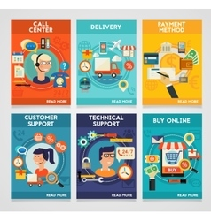 Customer and technical support call center buy vector