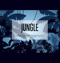 deep tropical jungle background vector image vector image