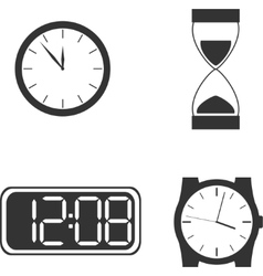 Different clock types vector image
