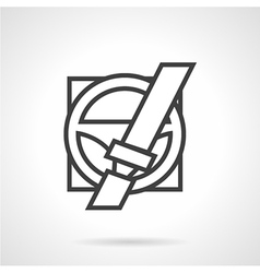 Driver safety line icon vector