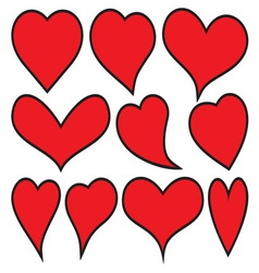 Heart collection resize vector image vector image
