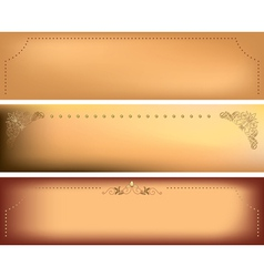 horizontal backgrounds with decorative frames vector image