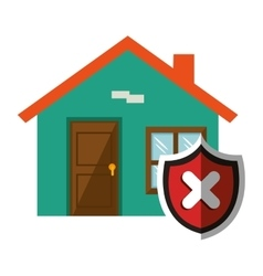 House with security shield vector