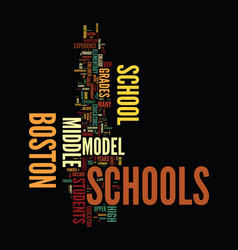 middle school may be pass within the boston vector image vector image