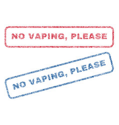 No vaping please textile stamps vector