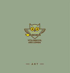 owl logo art vector image