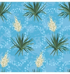 Seamless floral background Yucca flowers vector image vector image