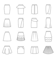 set of skirts vector image