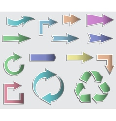 sticky collection arrows vector image
