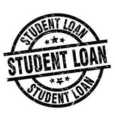 Student loan round grunge black stamp vector