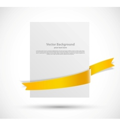White banner vector image vector image