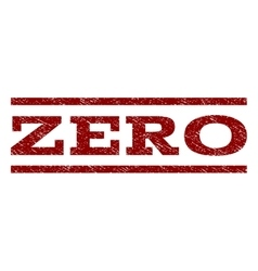 Zero watermark stamp vector