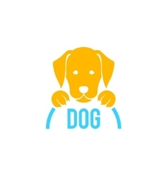 Dog sign and logo for veterinary clinic vector