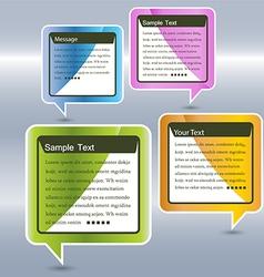 Abstract design Speech bubble vector image