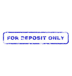 For deposit only rubber stamp vector