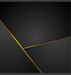 Black corporate background with glowing stripes vector