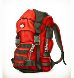 Tourist backpack 3d icon vector