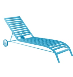 Chair swimming pool vector
