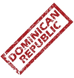 New dominican republic rubber stamp vector
