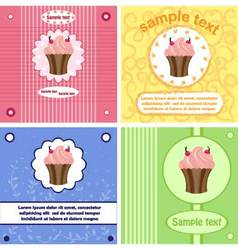 Beautiful greeting labels cards vector