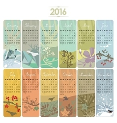 2016 Calendar Set vector image