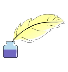 Feather and ink vector