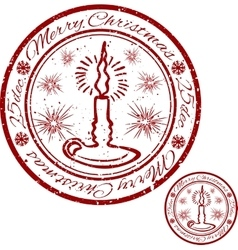 grunge Christmas stamp vector image