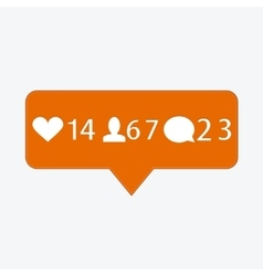 modern like follower comment icons vector image