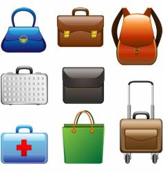 Collection bags vector