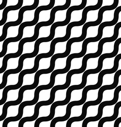 Seamless monochrome angular wave pattern vector