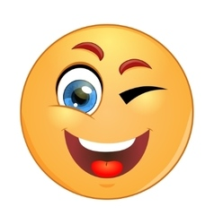 Winking emoticon vector image