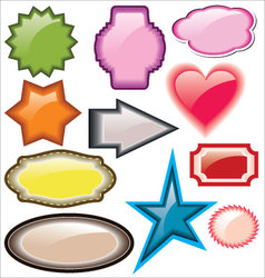 Design of advertisement labels stickers vector