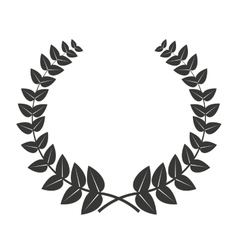 leafs wreath isolated icon design vector image