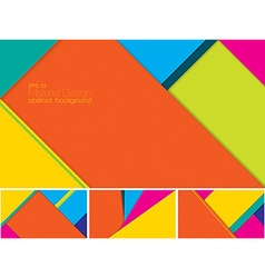 Material design abstract background vector