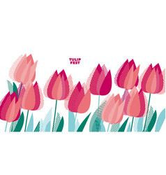 Abstract modern vivid floral motif vector