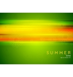 Abstract summer background with glowing stripes vector image