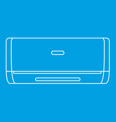 Air conditioner machine icon outline style vector