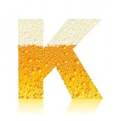alphabet beer k vector image vector image