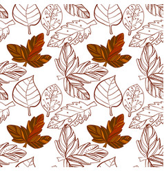 Autumn graphic with color stylize vector