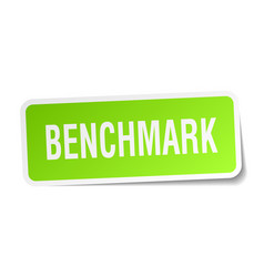 Benchmark square sticker on white vector