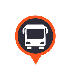 bus icon on mark vector image vector image
