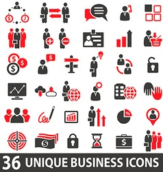 BusinessIconsRed vector image