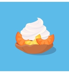 Cake with Peach vector image