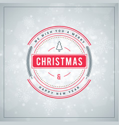 Christmas greeting card vintage typographic vector