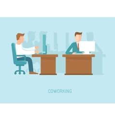 Coworking concept in flat style vector