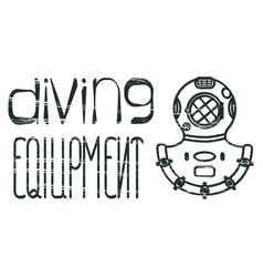 Design logo diving equipment vector