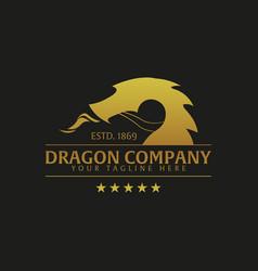 Dragon company logo or emblem logo vector