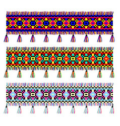 Ethnic ornament with fringe vector