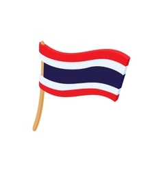Flag of Thailand icon cartoon style vector image