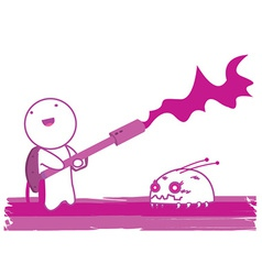Flamethrower cartoon vector image